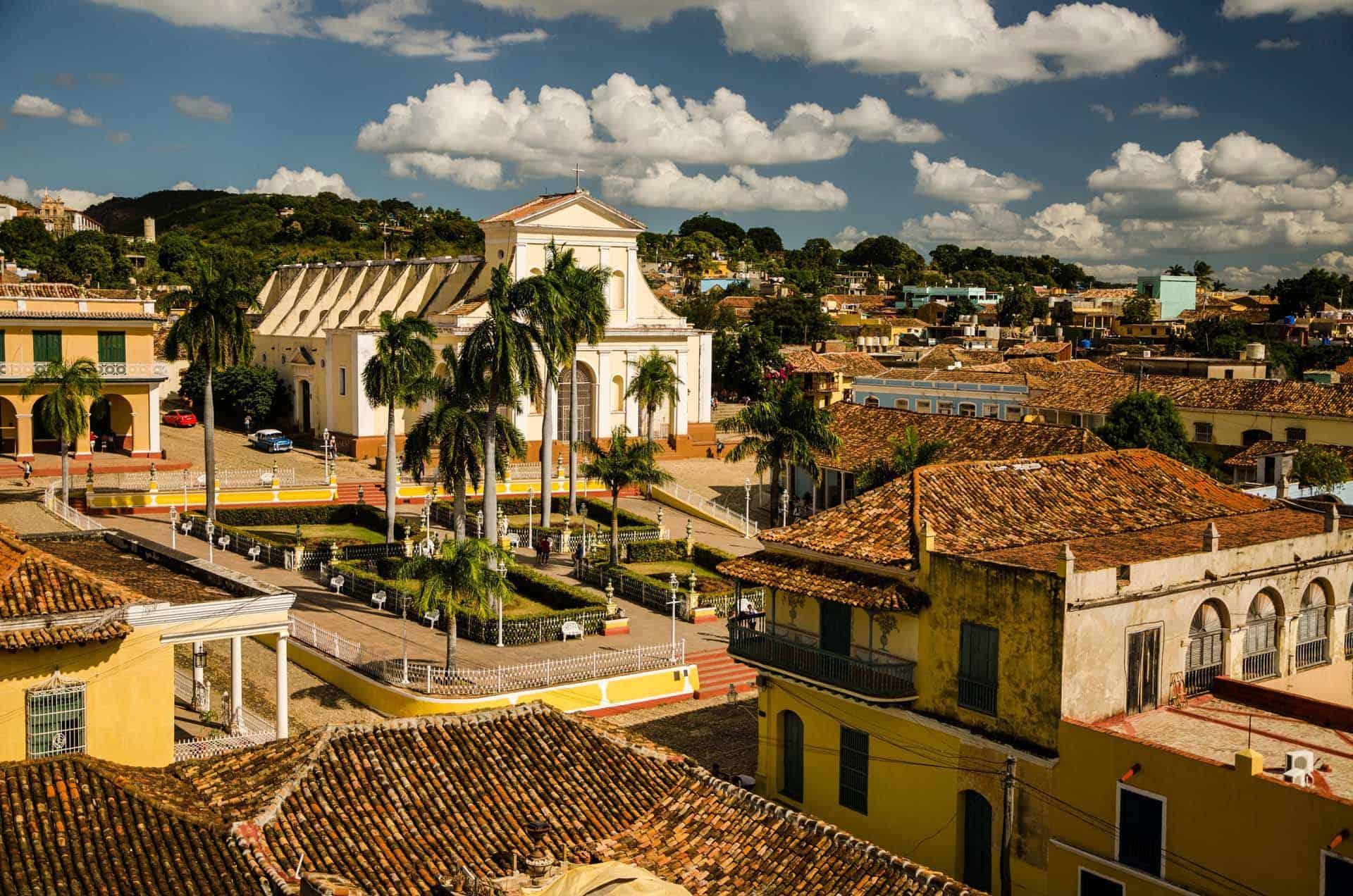 trinidad vue aerienne plaza mayor cuba autrement